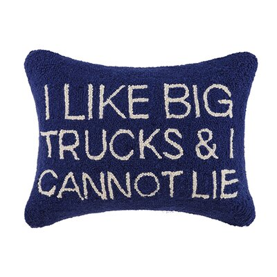 I Like Big Trucks and I Cannot Lie Cotton Lumbar Pillow