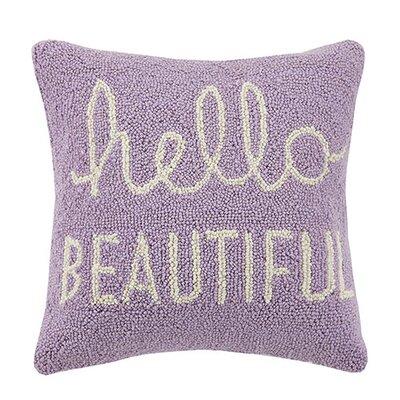 Hello Beautiful Cotton Throw Pillow