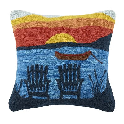 Adirondack Sunset 100% Cotton Throw Pillow