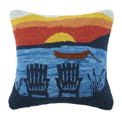 Adirondack Sunset 100% Cotton Throw Pillow