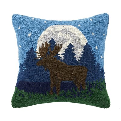 Moonlit Moose 100% Cotton Throw Pillow