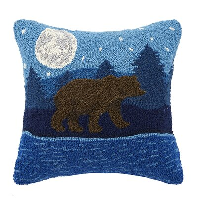 Moonlit Bear 100% Cotton Throw Pillow