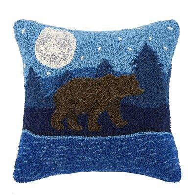 Moonlit Bear 100% Cotton Throw Pillow
