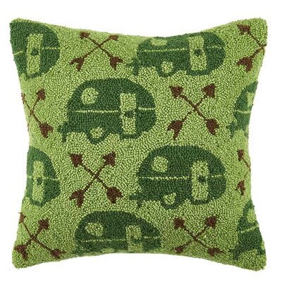 Camper and Arrow Repeat 100% Cotton Throw Pillow