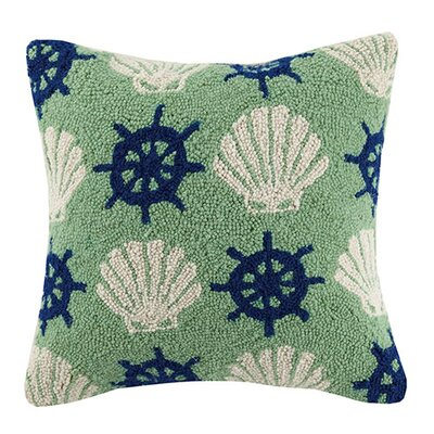 Shell Wheel Repeat 100% Cotton Throw Pillow