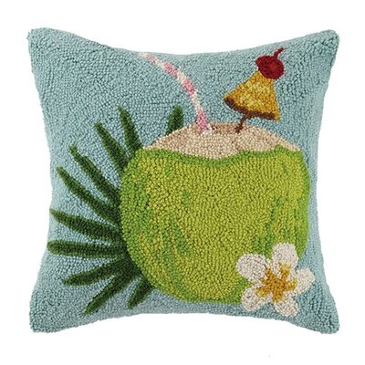 Fruity Coconut 100% Cotton Throw Pillow