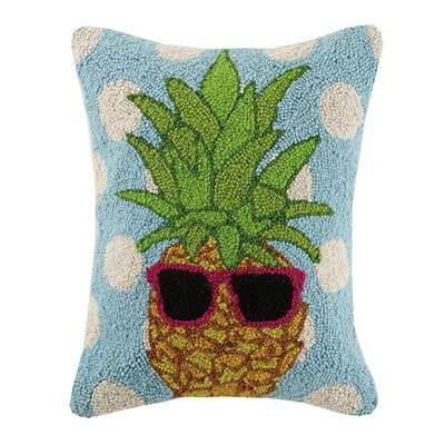 Polka Dot Pineapple 100% Cotton Lumbar Pillow