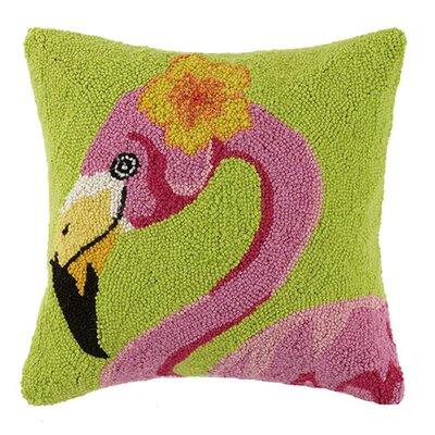 Hibiscus Flamingo 100% Cotton Throw Pillow