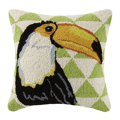 Triangle Toucan 100% Cotton Throw Pillow