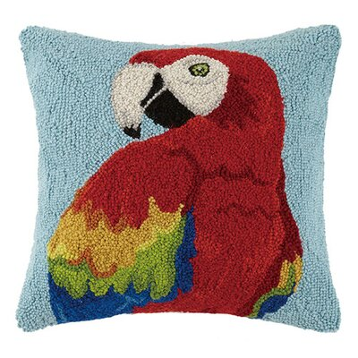 Parrot 100% Cotton Throw Pillow