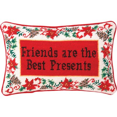 Needlepoint Friends Are The Best Presents Wool Throw Pillow