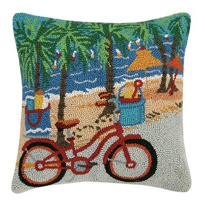 Beach Bicycle Hook Cotton Lumbar Pillow