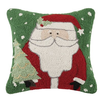 Folk Santa Wool Throw Pillow