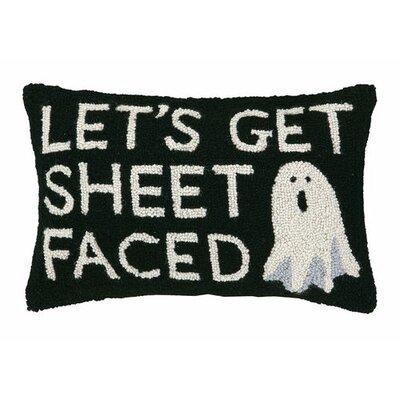 Lets Get Sheet Faced Hook Wool Lumbar Pillow