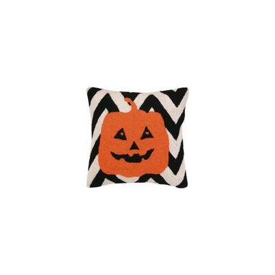 Pumpkin Chevron Hook Throw Pillow