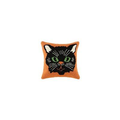 Halloween Kitty Hook Throw Pillow