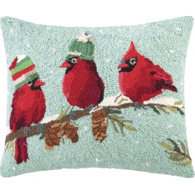 Bird Hook Wool Throw Pillow