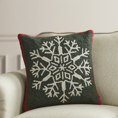 Snowflake Hook Wool Throw Pillow