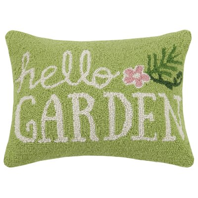 Hello Garden Hook 100% Wool Lumbar Pillow