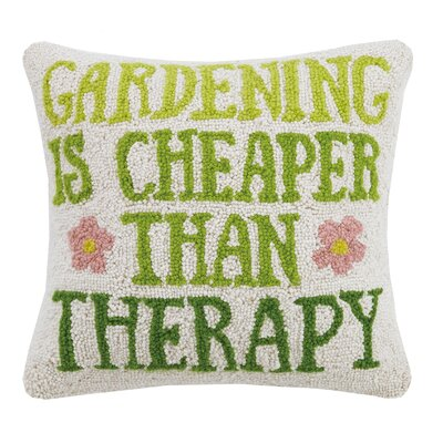 Gardening Is Cheaper Garden Hook 100% Wool Throw Pillow