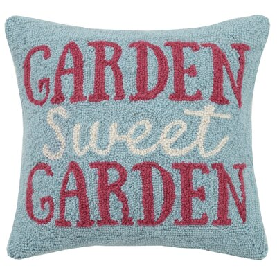Garden Sweet Garden Hook 100% Wool Throw Pillow