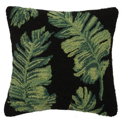 Vintage Palm Leaves Hook 100% Wool Throw Pillow