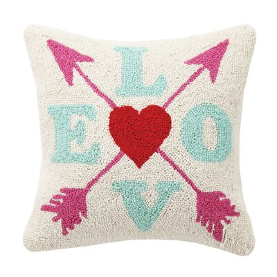 Crossed Arrow Love Valentines Hook Wool Throw Pillow