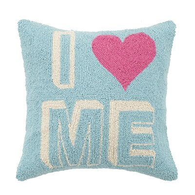 I Heart Me Valentines Hook Wool Throw Pillow
