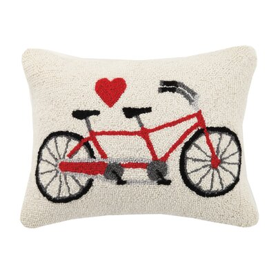 Tandem Bike Love Palentine Hook Lumbar Pillow