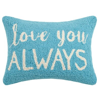 Love You Always Valentines Hook Wool Lumbar Pillow