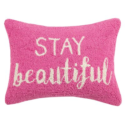 Stay Beautiful Hook Wool Lumbar Pillow