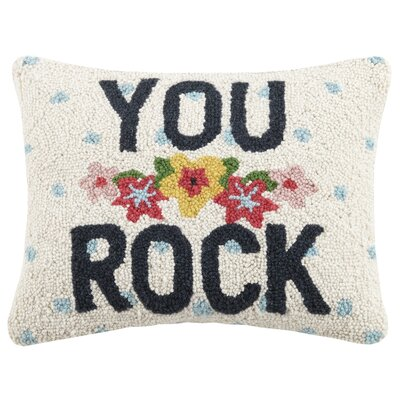 You Rock Valentines Hook Wool Lumbar Pillow