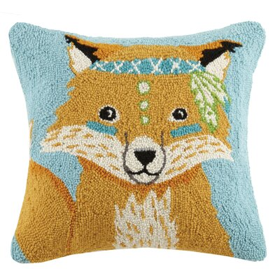 Boho Bear Animals Hook Wool Throw Pillow
