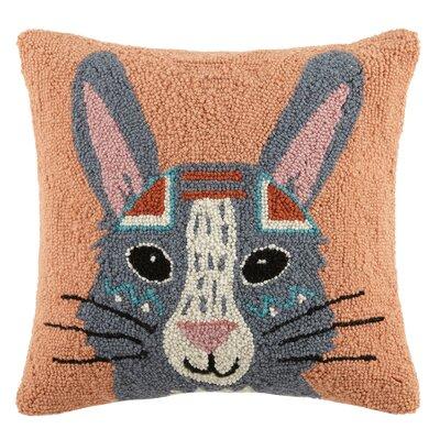 Boho Rabbit Animal Hook Wool Throw Pillow