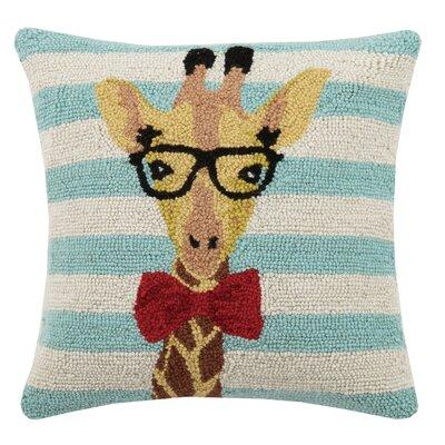 Giraffe Animal Stripe Hook Wool Throw Pillow