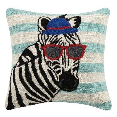 Zebra Animal Stripe Hook Wool Throw Pillow