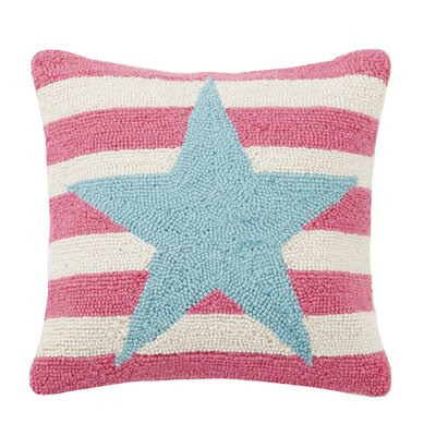 Star Stripe Hook Wool Throw Pillow