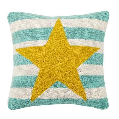 Star Stripe Hook Wool Throw Pillow