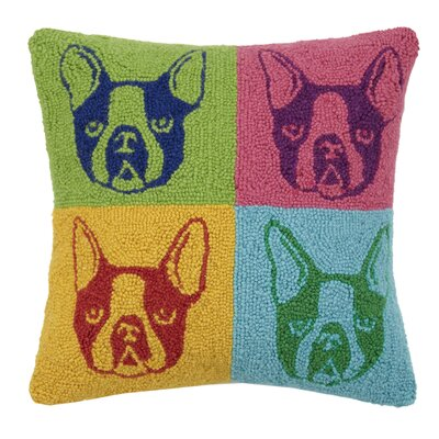 French Bulldog Hook Wool Throw Pillow