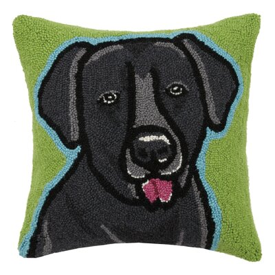 Lab Hook Wool Throw Pillow