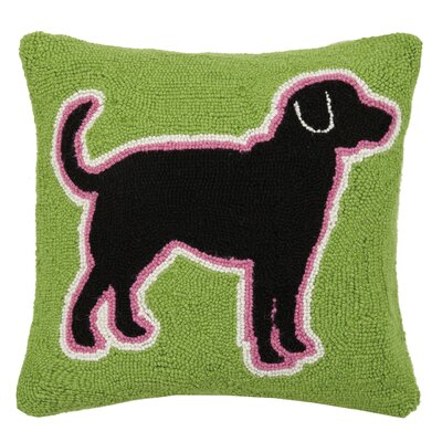 Lab Silhouette Hook Wool Throw Pillow