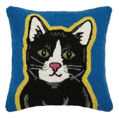 Cat Hook Wool Throw Pillow