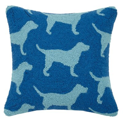 Multi Lab Hook Wool Throw Pillow