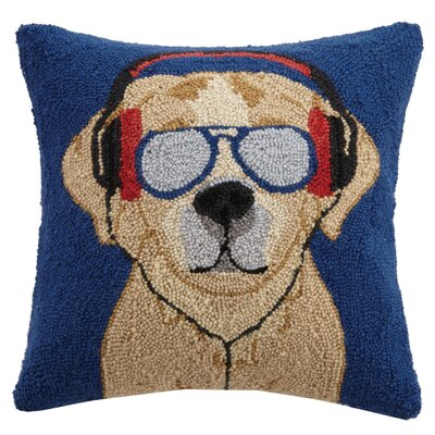 Lab Music Hook Wool Throw Pillow