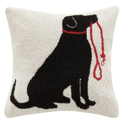 Lab, Leash Hook Wool Throw Pillow