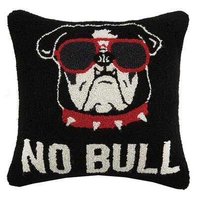 No Bull Hook Wool Throw Pillow