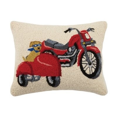 Motorcycle Lab Hook Wool Lumbar Pillow