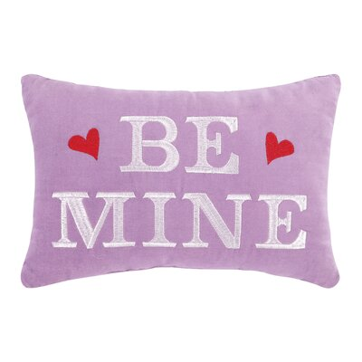 Be Mine Velvet Cotton Lumbar Pillow