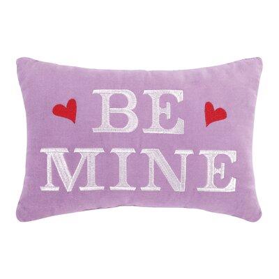 Be Mine Velvet Cotton Lumbar Pillow
