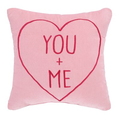 Valentine You & Me Velvet Cotton Throw Pillow